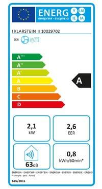 eer climatiseur mobile Klarstein New Breeze 7